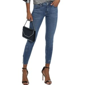 Iro Jarod Cropped Distressed Skinny Jeans